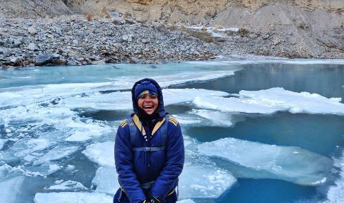 Celebrating Womanhood | Udaipur girl walks on frozen river in -35 degree Celsius