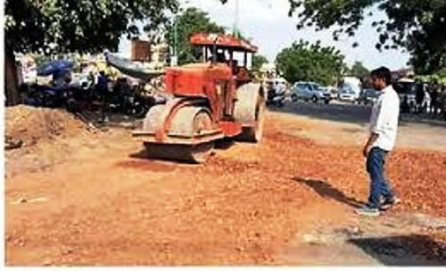 Road repair work begins-3 crore budget approved