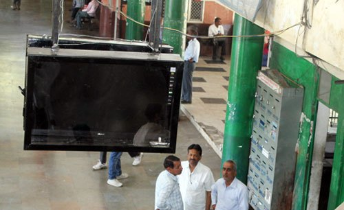 Udiapol Bus Stand to install Display Screens & Speakers