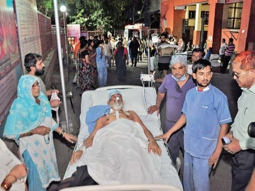 Fire due to short circuit in Jaipur Hospital