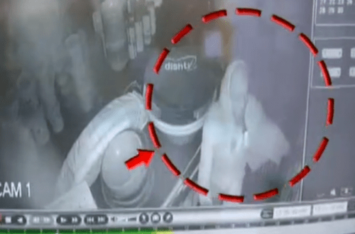 Caught on Camera: Thief breaks wall to steal from Electronic Shop