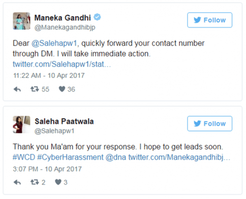Maneka Gandhi promises support to Udaipur's victim of online sexual harrasment