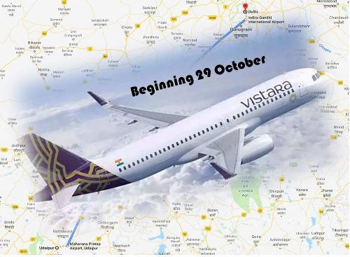 Vistara to fly Udaipur – Delhi circuit from 29 October | Check Flight Schedule
