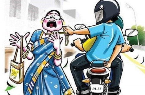 Old woman beaten up-Chain snatched