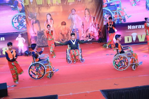 Differently-abled walk and rock the ramp