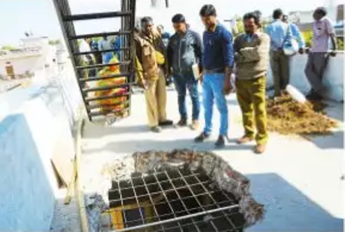 Action against illegal construction-Roof punctured