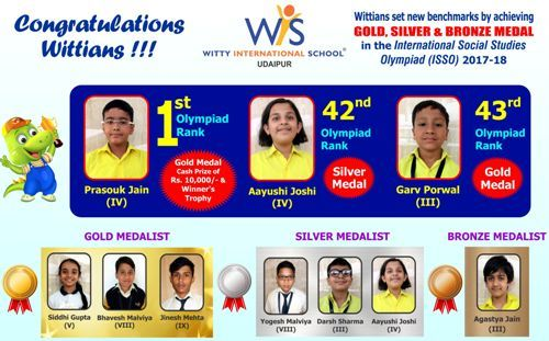 Self belief and hard work will always earn your success – Olympiad achievers at Witty