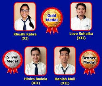 Gold, Silver and Bronze medals won in International Company Secretary Olympiad