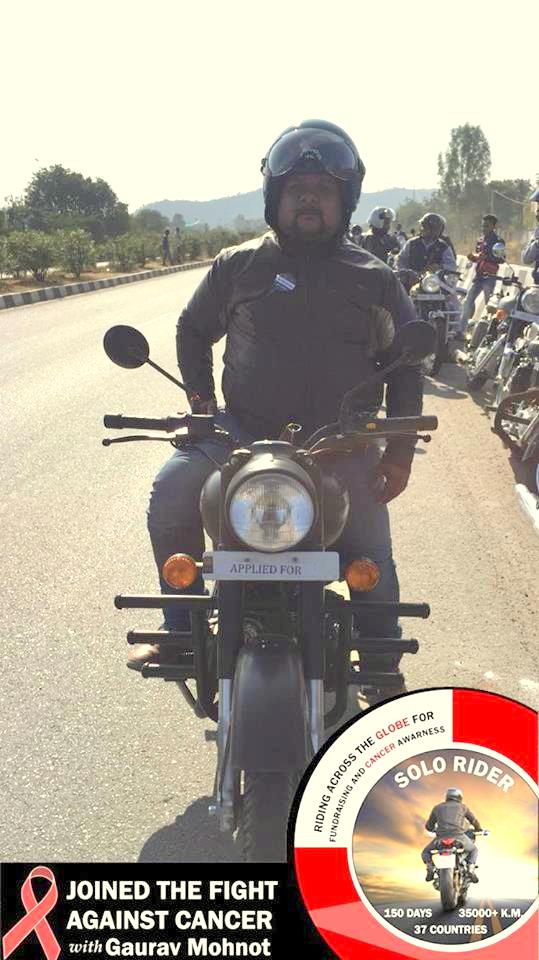 Udaipur's Gaurav on the move for Cancer awareness