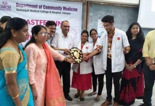 गीतांजली में विश्व स्तनपान एवं ओआरएस सप्ताह का आयोजन