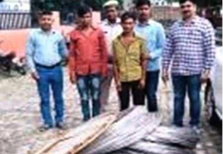 चोरी की 1700 किलोग्राम के विद्युत तार ज़ब्त कर दो जनो की किया गिरफ्तार