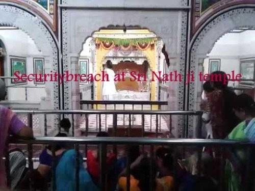 Picture of Sri Nath Ji clicked inside temple-Security overruled