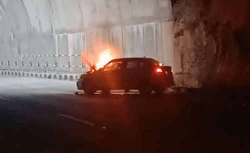 Car catches fire at Chirwa Tunnel