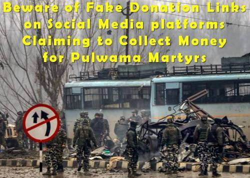 Udaipur administration warns of fake welfare fund collection | Pulwama attack