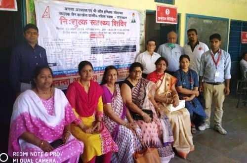 पहली बार मोटा भीलवाड़ा गांव में आयोजित हुआ स्वास्थ्य शिविर