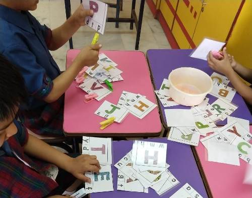 Hands on approach to learning etches the concept of numbers, colors and shapes permanently