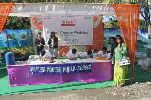Students of Seedling add Color to Khushi Creative Workshop