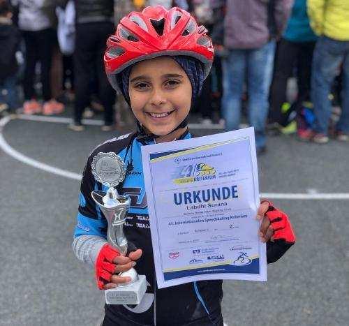 Labdhi Surana from Udaipur brings home Silver for India at Europa Skating Championship