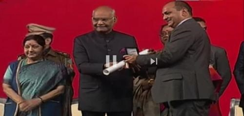 St Paul alumnus receives highest NRI award from President of India