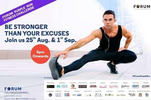 Its happening tomorrow ! Purple Run Fitness Challenge at Forum Celebration Mall