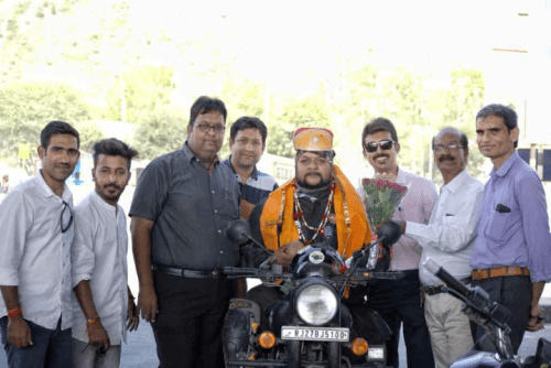 Udaipur's pride Gaurav returns home-Cancer awareness campaign