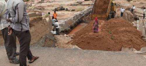 Appropriate material not used for Bujhda bridge work