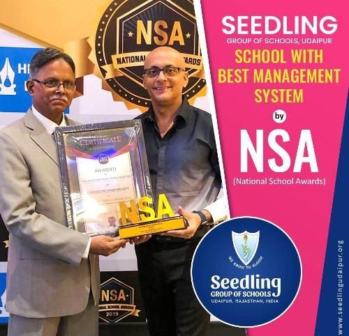 Seedling Udaipur wins NSA Award for School with Best Management System