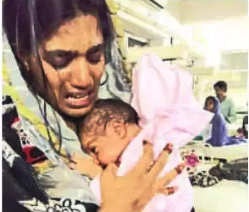 Stone-hearted father abandons neonate daughter