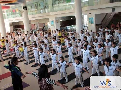Witty International Udaipur celebrates International Yoga Day