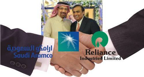 Saudi Aramco and Reliance sign the biggest Foreign Investment in India subsequent to meeting in Udaipur