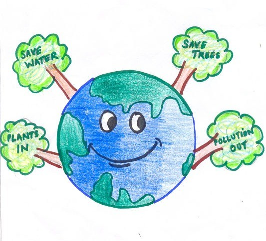 Save Trees: Drawing by Mehul