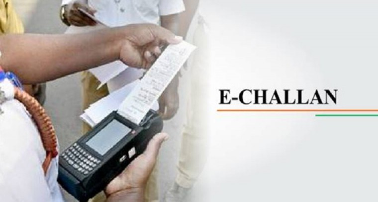 E-challan for breaking traffic rules