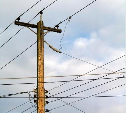 Electric poles removed for film shoot-Replanted after opposition