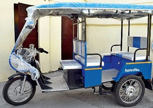 E-Rickshaws start plying in city