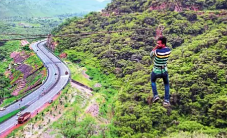 Zip line before Chirwa tunnel attracts public