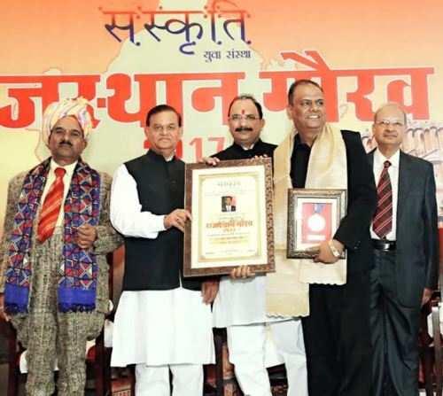 Amit Mishra gets Rajasthan Gaurav Award for Humanities