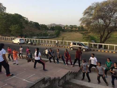 Udaipur Mayor does Zumba dance on International Dance Day
