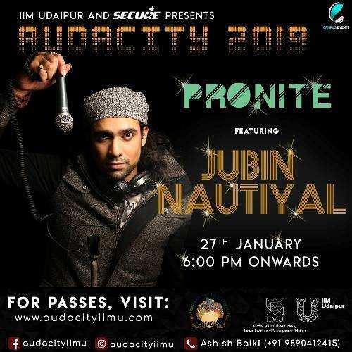 Jubin Nautiyal comes to Udaipur | Live Performance in Audacity 2019 @ IIM Udaipur