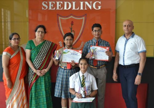 """""""Creativity is intelligence having fun"""" – First position bagged by Seedling"""
