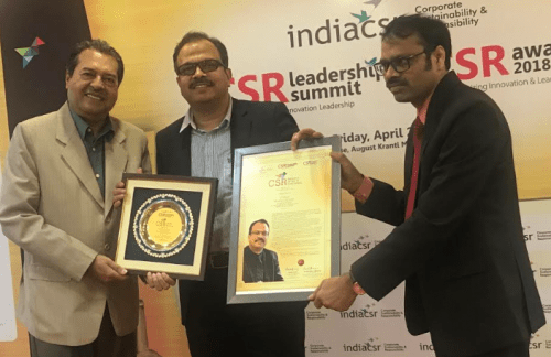 Pavan Kaushik awarded with 'CSR Person of the Year 2018' for contribution to Industrial and Road Safety