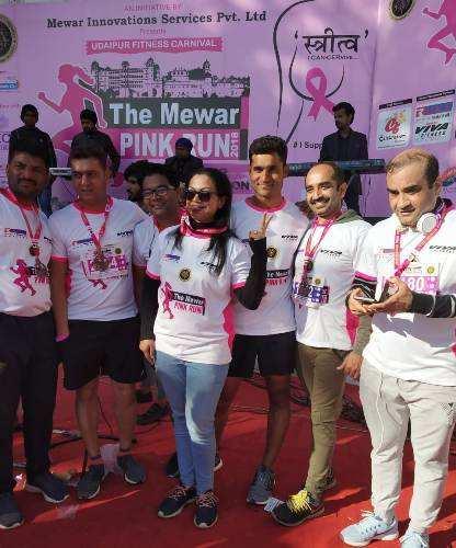 [Photos]Udaipur city runs on winter morning-The Mewar Pink Run