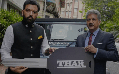 Prince Lakshyaraj gets special edition Thar from Anand Mahindra