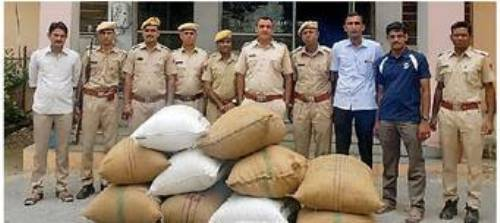 182 kilo poppy husk recovered from a luxury car