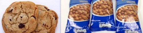 Cookies and peanuts in AI short distance flights