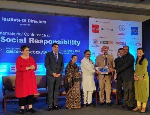 Hindustan Zinc received Golden Peacock Award