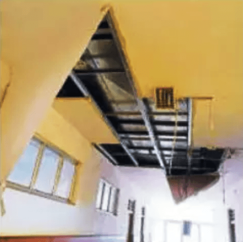 Ceiling falls in Janana Hospital's OT
