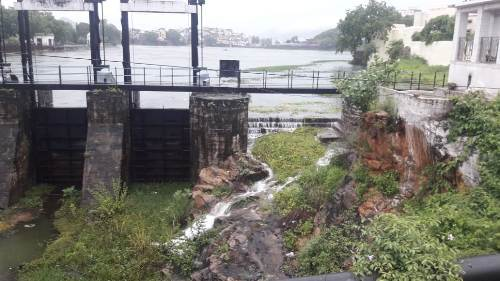 [Photos] Udaipur Monsoon 2019   Fateh Sagar @11ft, Swaroop Sagar Gates ready to open, Madar is busy and pouring into Udaipur