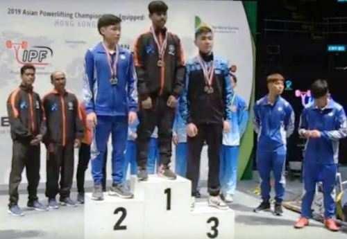 एशियन पावरलिफ्टिंग चैंपियनशिप मे उदयपुर के गौरव साहू ने एक स्वर्ण व एक कांस्य पदक जीता