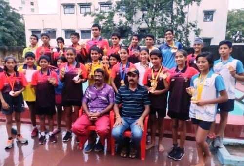 जिला स्तरीय विद्यालयी तैराकी प्रतियोगिता में भारतीय खेल प्राधिकरण