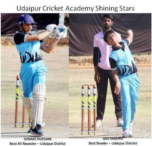 Junaid and Geetanshu awarded with Best All Rounder and Best Bowler respectively